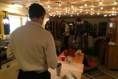 Marshall rehearsing a scene