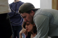 Zach and Shaina watching the monitor